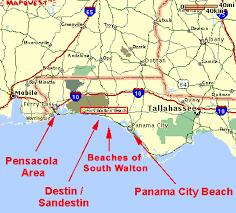 destin map destin area maps of the destin area