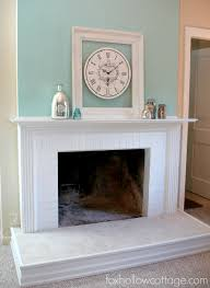 Tiled Fireplace Wall by Before And After Fireplace Makeovers Fireplace Surrounds