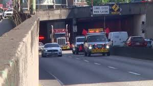 Dot Seattle Traffic Map by Driver Cited After Oversize Load Gets Stuck Under Battery Street