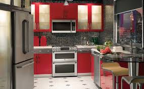 red modern kitchen city kitchen photo kitchen design ge appliances