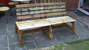 How To Make A Table Out Of Pallets Garden Bench Out Of Reclaimed Wood Diy Youtube