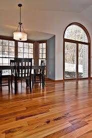 tigerwood hardwood floor medium between light and