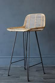 blonde rattan bar stool