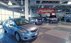 toyota car showroom toyota look to car rentals fleet deliveries for boost amid