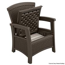 Patio Chair Suncast Elements Club Chair With Storage Java