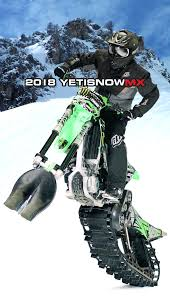 motocross snow bike yeti snowmx