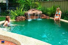 kitchenamazing aquarock swimming pool waterfalls custom luxury