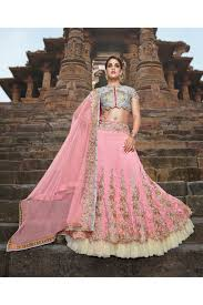 silk semi stitched a line lehenga choli in baby pink colour baby