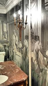 391 best images about minimal ist muss wAnde on pinterest the leo dowell interiors powder bath custom mural 19th century french