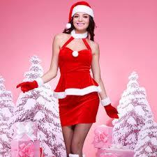 2018 Sexy Female Santa Costume Christmas Dress  Buy Christmas