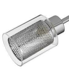 buy john lewis sierra 3 light semi flush ceiling light chrome
