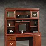 realspace landon desk with hutch amazon com realspace landon desk with hutch cherry office products