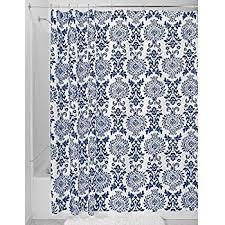 Cynthia Rowley Drapery Amazon Com Victoria Park Toile Bathroom Shower Curtain Blue