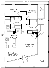 cabin floor plan tidewater cottage coastal living southern living house plans