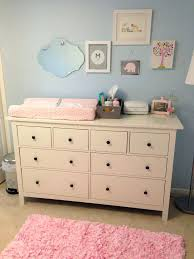 Ikea Changing Table Dresser Baby Dressers Ikea Light Blue Pink Nursery With Dresser As
