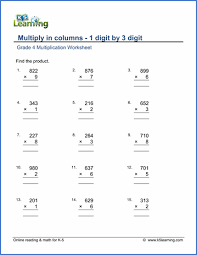grade 4 multiplication worksheets free u0026 printable k5 learning