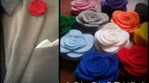 Lapel Flower Colourbuds Fabric Lapel Flowers Handcrafted In The Uk By Kieron