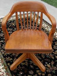 antique oak swivel bankers chair barrel office desk chair boling