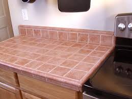 kitchen counter tile ideas cheap and chic curtains made from canvas or a drop cloth counter