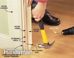 Repair Interior Door Frame How To Repair Interior Doors Family Handyman