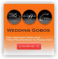 Wedding Gobo Templates Thegobo Com Custom Gobos Wedding Gobos Gobo Projectors Canada