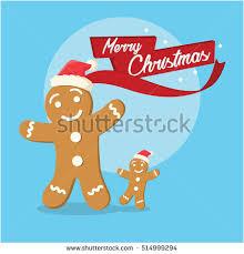 gingerbread merry illustration stock vector 514999294