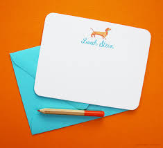 personalized notecards personalized stationery cards dachshund dog personalized note