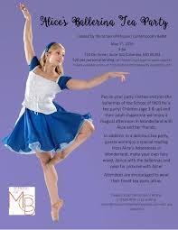 alice u0027s ballerina tea party missouri contemporary ballet