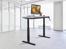 Adjustable Height Computer Desk Workstation by Sit Stand Height Adjustable Desk Frame Workstation Manual Crank