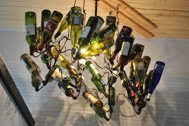 Wine Bottle Chandeliers Six Amazing Ways To Reuse Your Wine Bottles