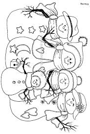 coloring page snowman family colour it sew it trace it etc other crafts pinterest