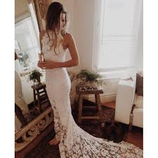 backless lace wedding dresses mermaid halter backless sweep lace wedding dresses with