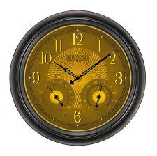lovely ideas illuminated wall clock beautiful clockway 18in bulova