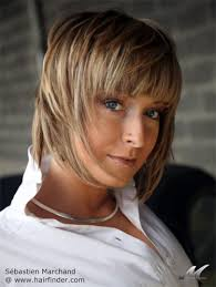 hairstyles that hide sagging jaw line short textured bob haircut with multicolored streaks