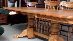 double pedestal dining table 2 youtube