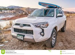 suv toyota 4runner toyota 4runner suv with paddleboard editorial photo image 84239781