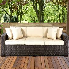 wicker patio sofa outdoor replacement cushions furniture no