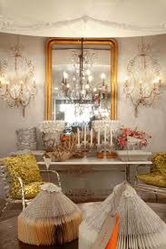 Glamorous Chandeliers Beautiful Dresser Room Decorations With High Gold Framed Mirrors