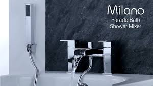 milano parade bath shower mixer tap youtube