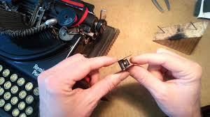 chagne ribbon remington portable typewriter changing the ribbon