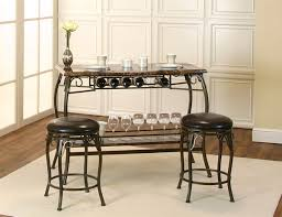 bar table with storage base 3 piece bar table set with wine rack base and 2 intended for plan 20