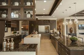 10 Beautiful Kitchens With Glass Cabinets Dark Cabinets Dark Floors Small Minimalist Wood Table Rectangle