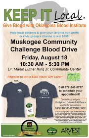 Challenge Blood Muskogee Community Challenge Blood Drive Muskogee Chamber Of
