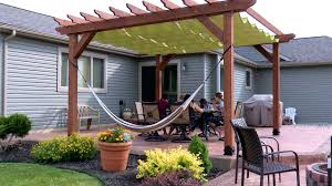Pergola With Fabric by How To Make A Slide On Wire Hung Canopy Pergola Canopy Youtube