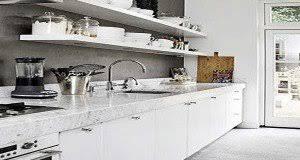 cuisine blanche sol gris cuisine blanche 20 idées déco pour s inspirer deco cool