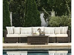 Rustic Patio Furniture by Summer Classics Rustic Outdoor Sectional Sofa Dunk U0026 Bright