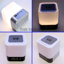 led light bluetooth speaker dy28 mini 3d stereo music led light bluetooth speaker clock alarm tf