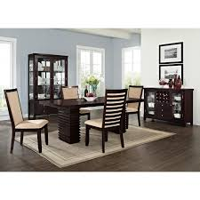 steve silver dining room furniture paragon table and 4 chairs merlot and camel american signature