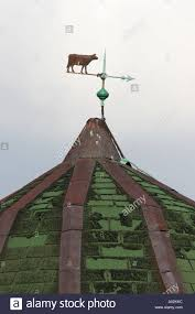 Bull Weathervane A Weather Vane With A Cow Stock Photo Royalty Free Image