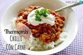 thermomix cuisine thermomix chilli con carne recipe